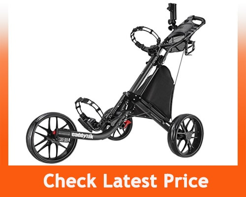 Best Electric Golf Cart - Caddytek EZ-Fold 3 Wheel Golf Push Cart