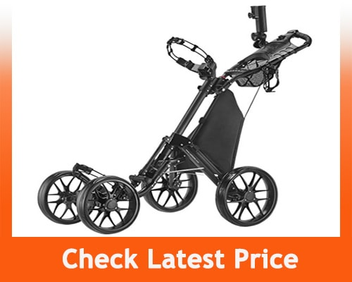 Best Electric Golf Cart - CaddyTek One-Click 4 Wheel Folding Version 3 Golf Push Cart