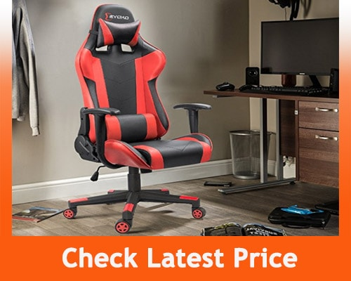 Best Gaming Chair Under 100 - Devoko Ergonomic Gaming Chair – Red