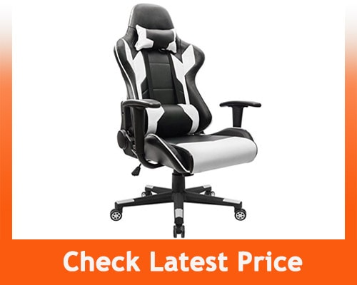 Best Gaming Chair Under 100 - Homall Racing Gaming Chair – White