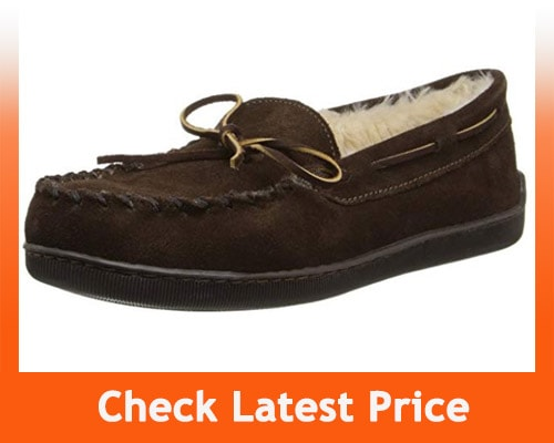 best house slippers for hardwood floors - Minnetonka Men's Pile Lined Hardsole