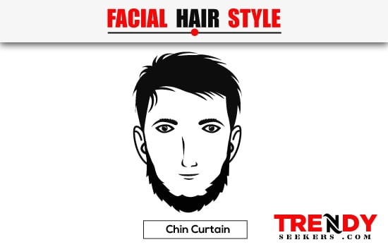 Chin Curtain Beard Style