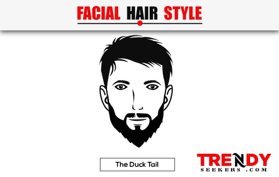 The Duck Tail Beard Style