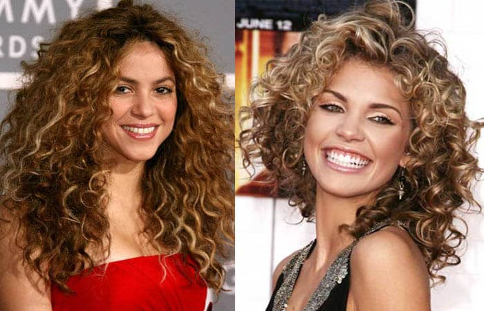 Celebrity long curly hairstyles 2019