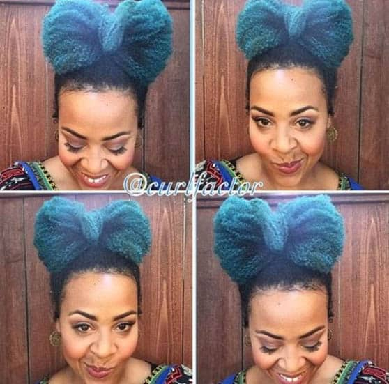 Bow Natural Hairstyles For Black Women