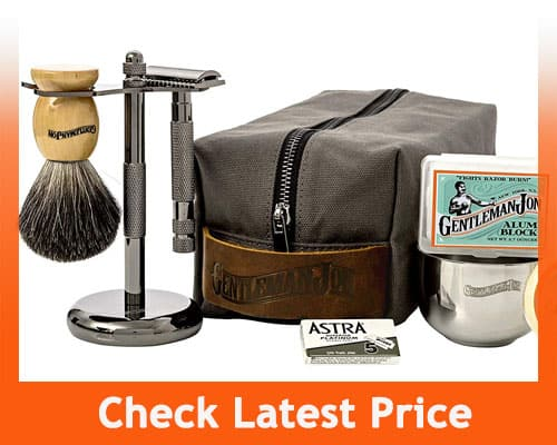 Gentleman Jon Deluxe Wet Shave Kit For Men
