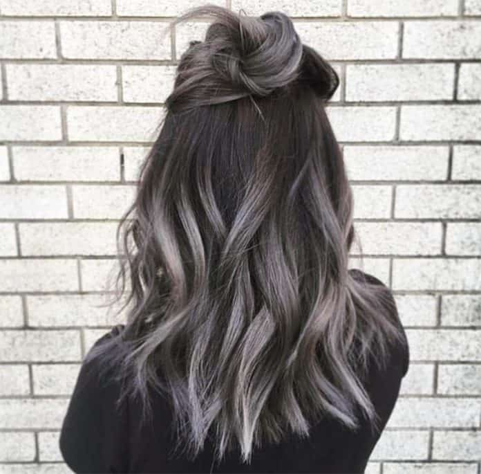 Grey Ombre Medium Lenght Hairstyle