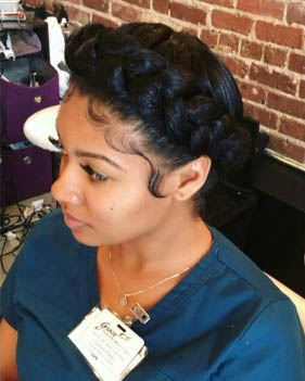 Halo Braid Natural Hairstyles For Black Women