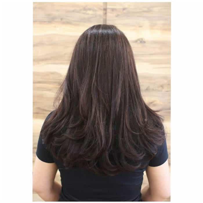 Long Layers Medium Length Hairstyle