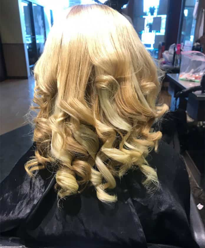 Ribbon Curls medium length hairstyle