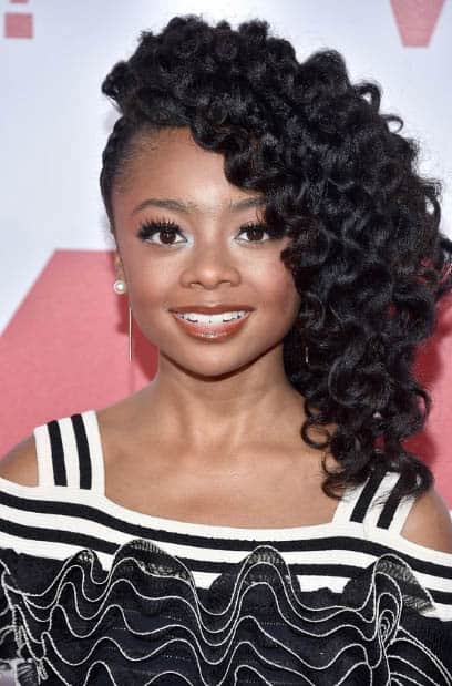 Side Curls Natural Hairstyles For Black Women
