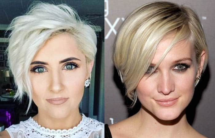 Celebrity bob with fringe hairstyles