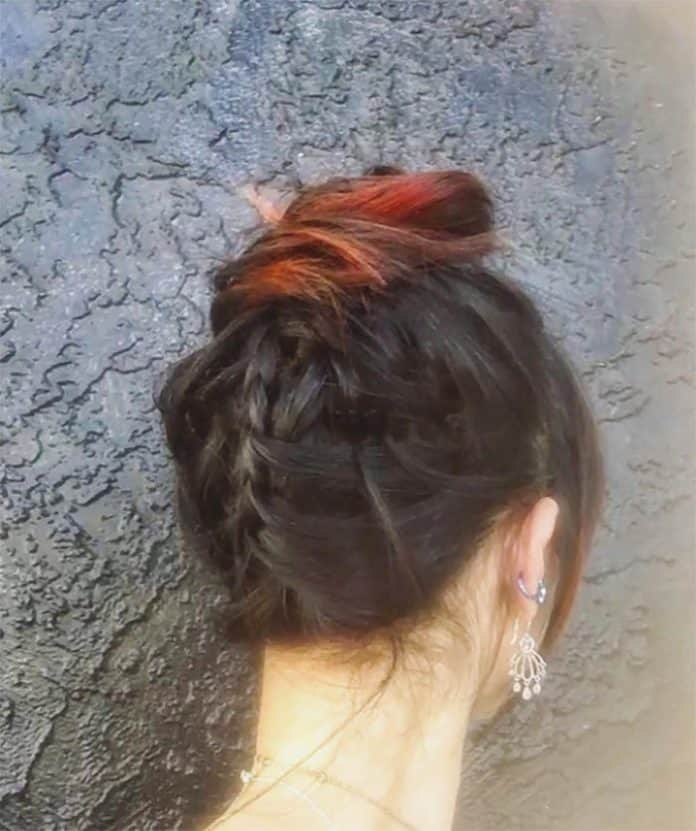 Tuxedo Braid Medium Lenght Hairstyle