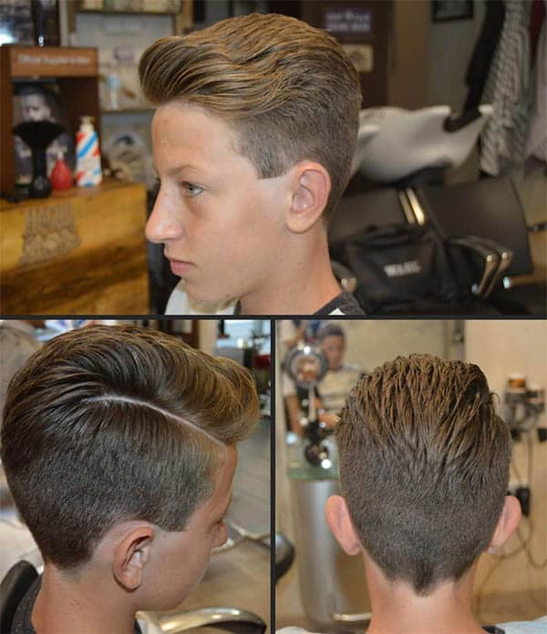 Blond Side Parting - Side Part Haircuts For Men