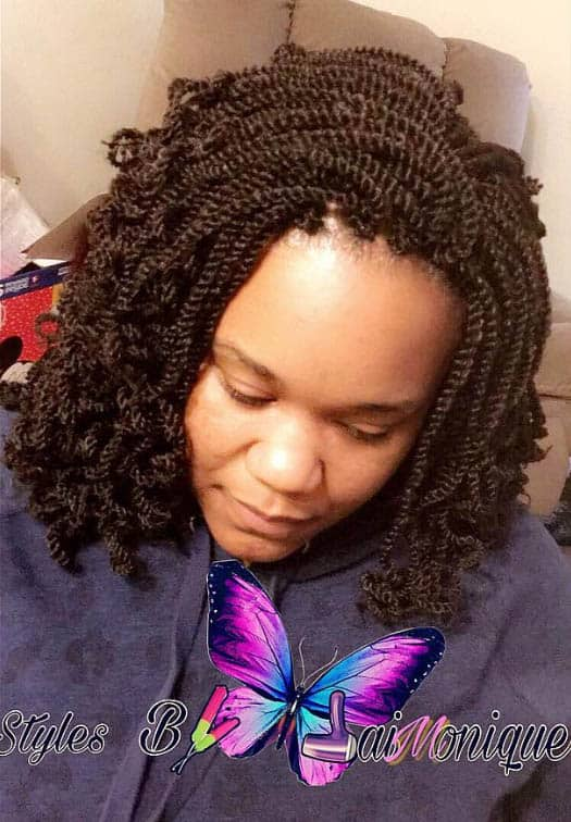 Braided Half up and Half down Crotchet Twists