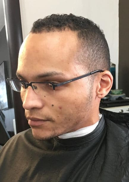 Brief and Simple Bald Fade Haircut