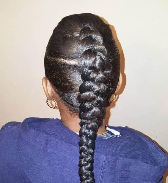 Center Braid - Goddess Braids Styles