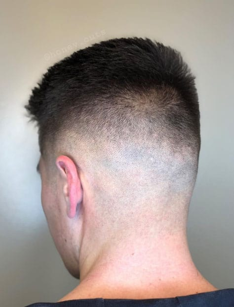 Comb Over with Edge up and Low Fade - Short Haircuts For Men