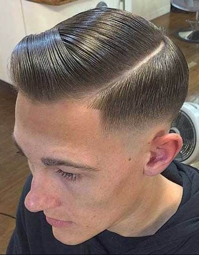 Comb Over with Hard Line - Comb Over Fade Haircuts