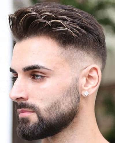 Comb Over with Short Beard - Comb Over Fade Haircuts