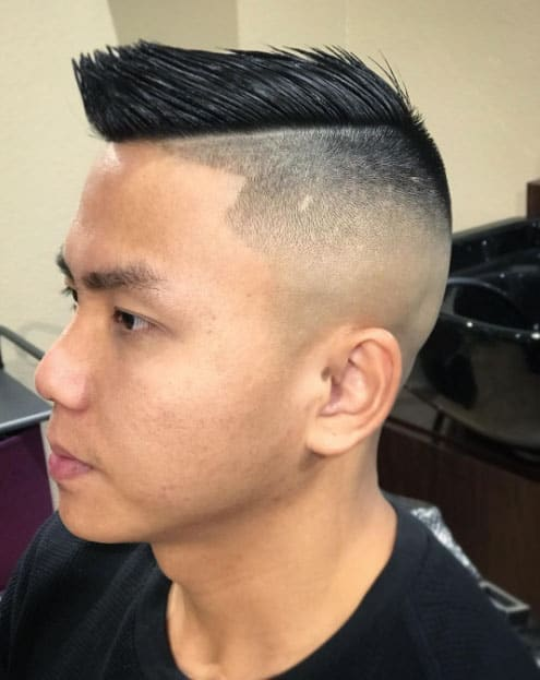 Comb over Fade Style