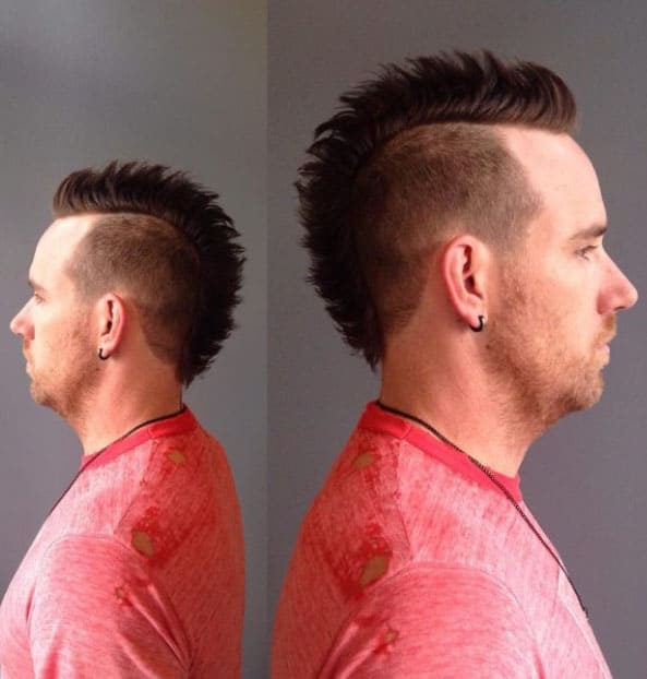 Edgy and Tapered Cut Mohawk Fade Haircuts