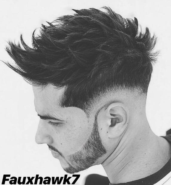 FAUX HAWK WITH TAPER FADE - Taper Haircuts For Men