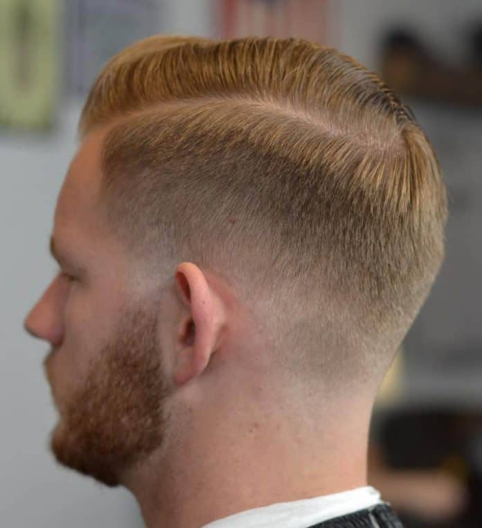 Faded Tapered Cut Sides Part Haircuts