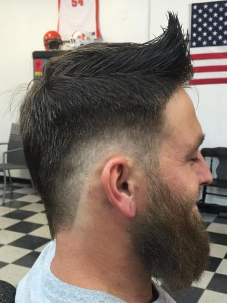 Fantastic Front Sweep and Tapering Mohawk Fade Haircuts