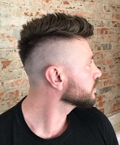Faux Hawk with Low Fade - Short Haircuts For Men