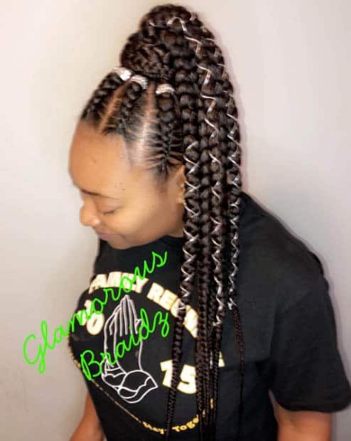 44 Goddess Braids Styles For Black Hair Trendy Hairstyles 2020