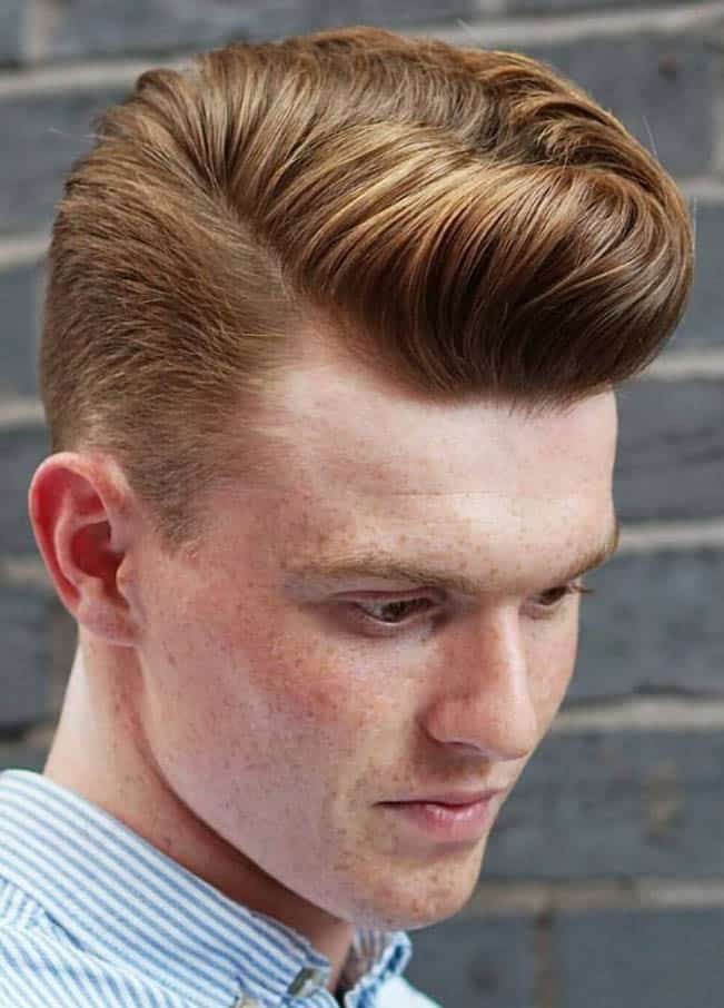 Golden Blonde Waves - Side Part Haircuts For Men