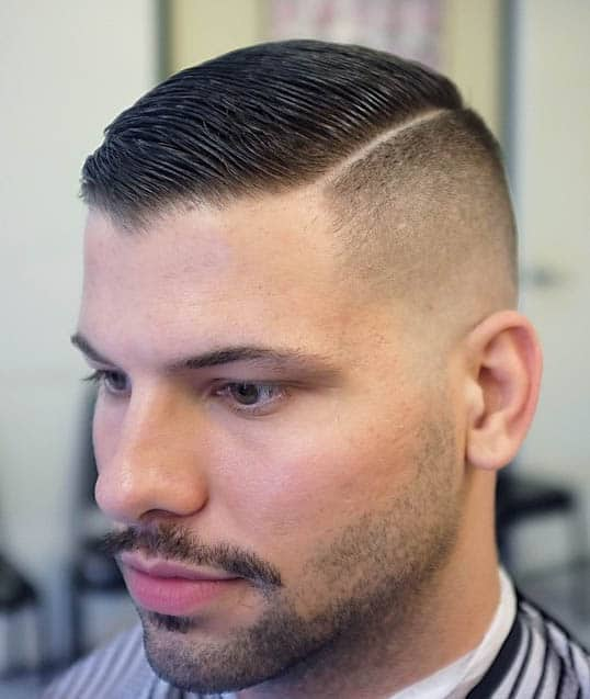 High Fade with Hard Part- Comb Over Fade Haircuts