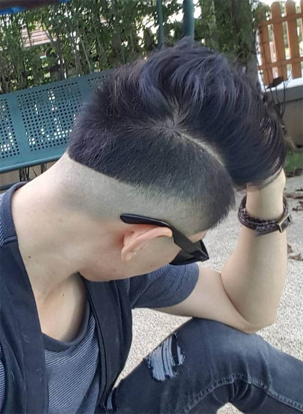 High Quiff and Skin Faded Undercut