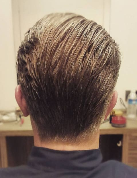 LOW CLASSIC TAPER WITH BRUSHED BACK HAIR