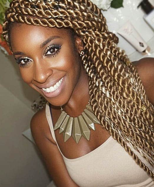 Long Kinky Twists, Blonde - Kinky Twist Hairstyles