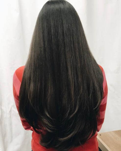 Long Straight Layers - Long Layered Hairstyles