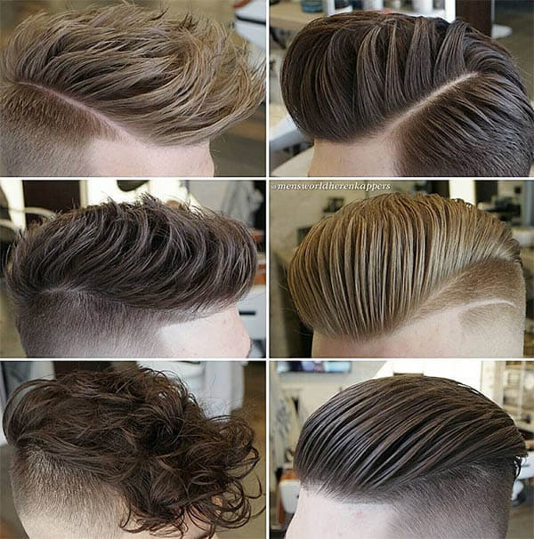 Long Top and Buzzed Sides Part Haircuts