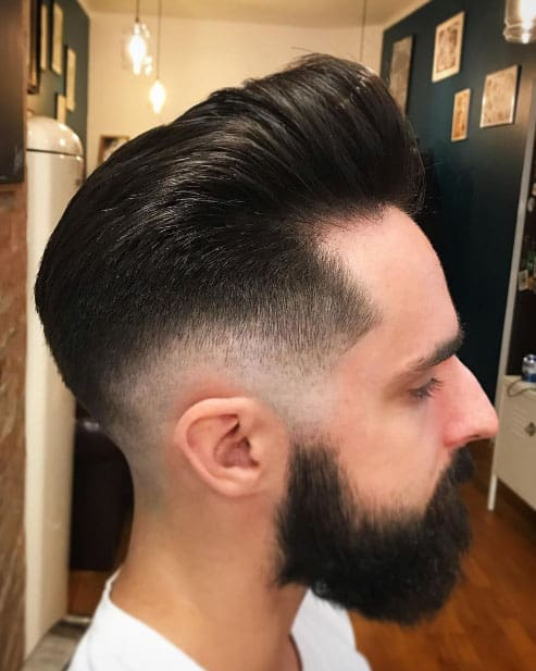 Low Fade Pompadour Haircut