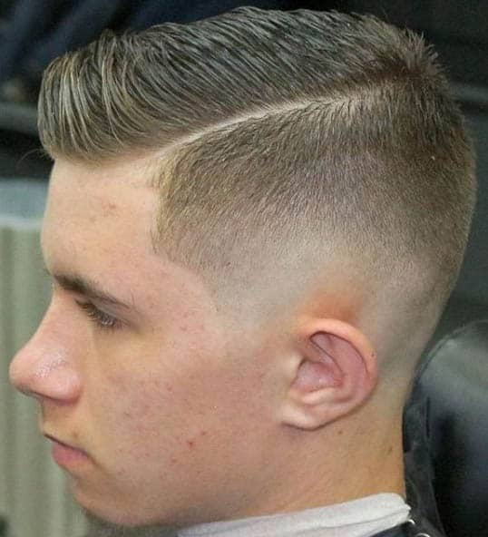 Low Fade with Easy Part - Comb Over Fade Haircuts