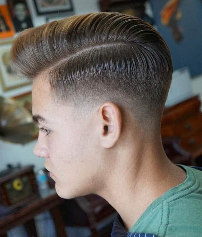 Low Fade with Pompadour - Comb Over Fade Haircuts