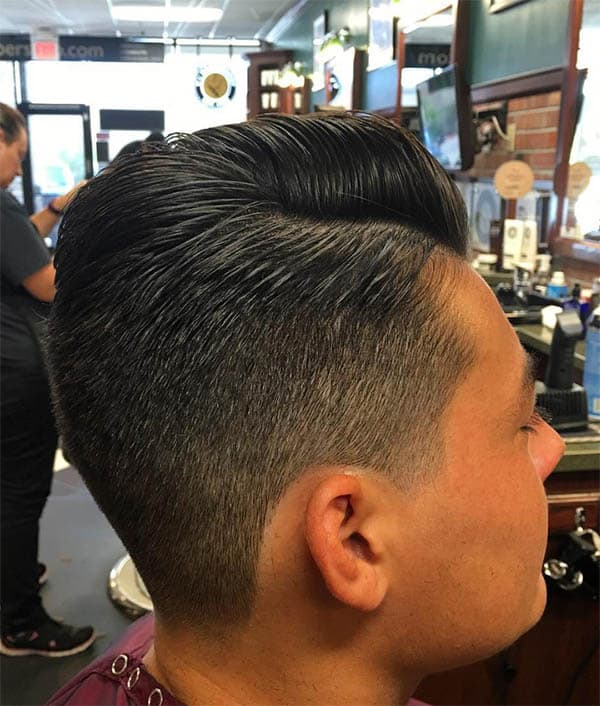 Low Taper Pomp Sides Part Haircuts