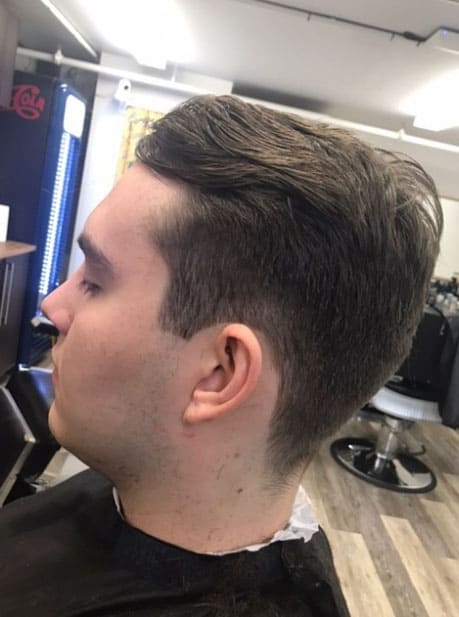 MEDIUM TAPER WITH BRUSHED BACK HAIR
