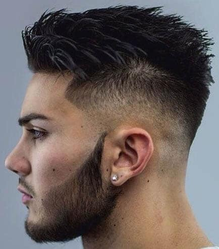 Mid-Skin Fade with Comb Over - Comb Over Fade Haircuts