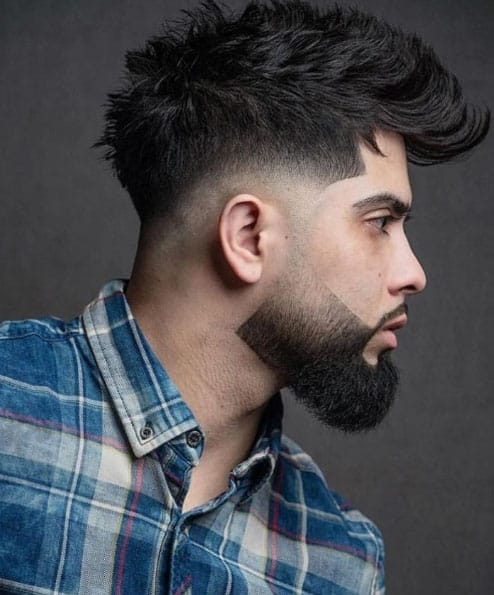 Modern Mohawk with Beard Mohawk Fade Haircuts