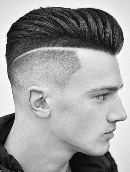 Mohawk Skin with Line Fade Haircuts