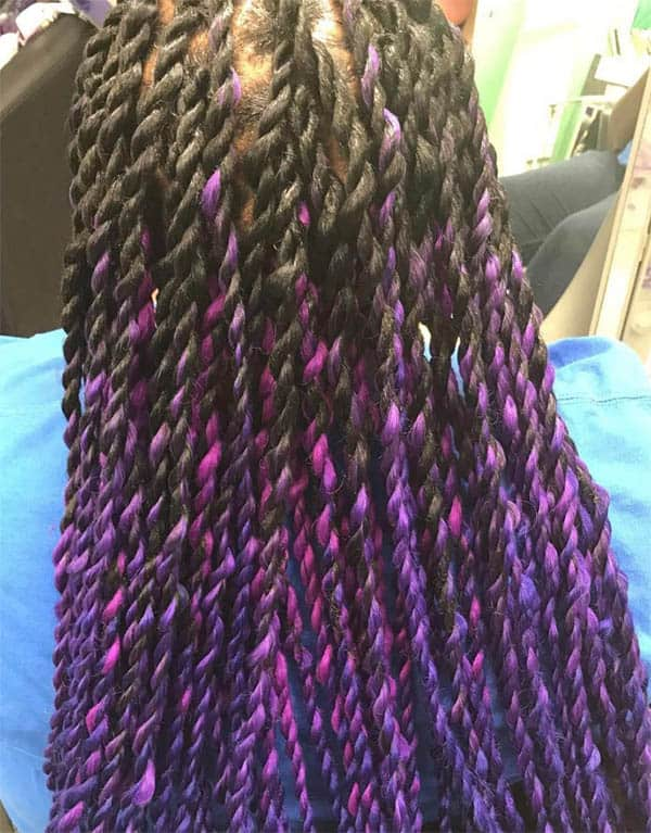 Ombre Senegalese Twists, Long - Kinky Twist Hairstyles