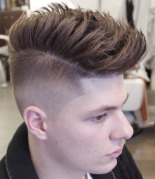 Pomp Skin Fade Sides Part Haircuts