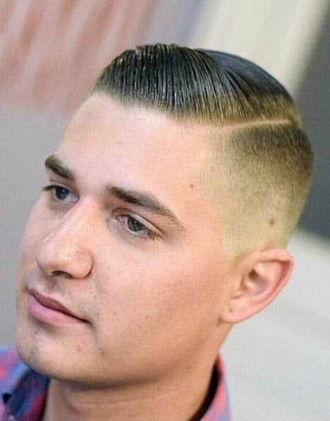 Short Comb Over with High Fade - Comb Over Fade Haircuts