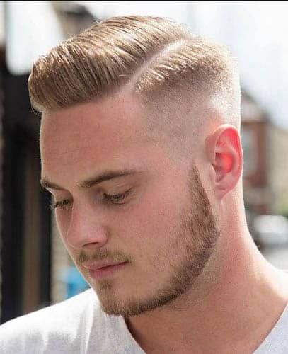 Short Comb Over with Part - Comb Over Fade Haircuts